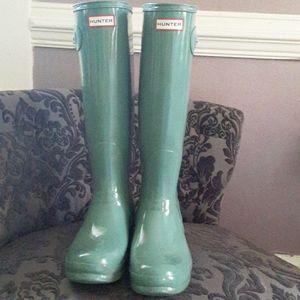 Hunter rainboots sage green